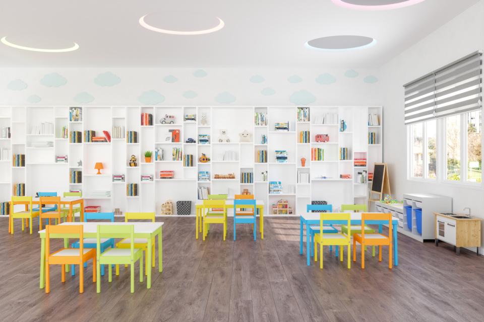 Classroom Of Modern Kindergarten 1241068517 2124x1416