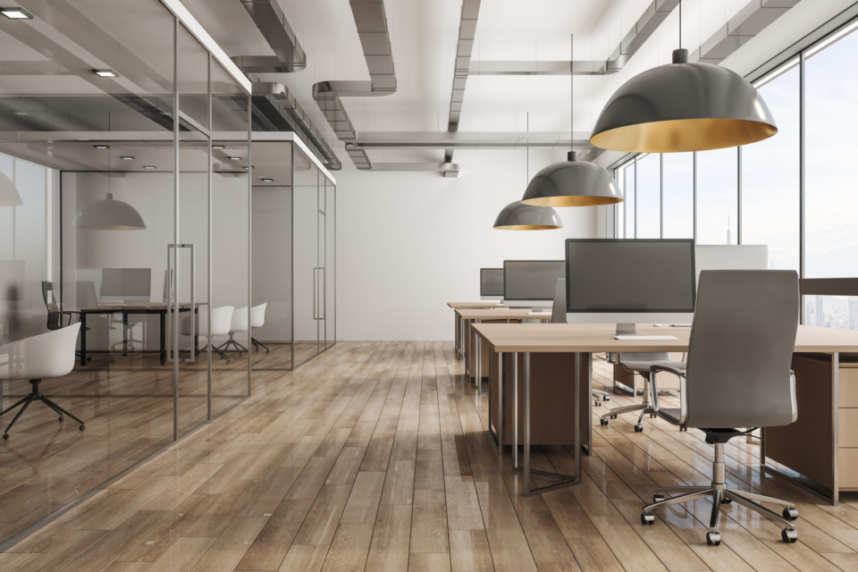 Modern office interior with city view 1138024382 2125x1417